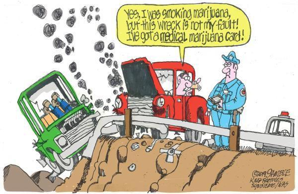 Cartoon: Marijuana defense