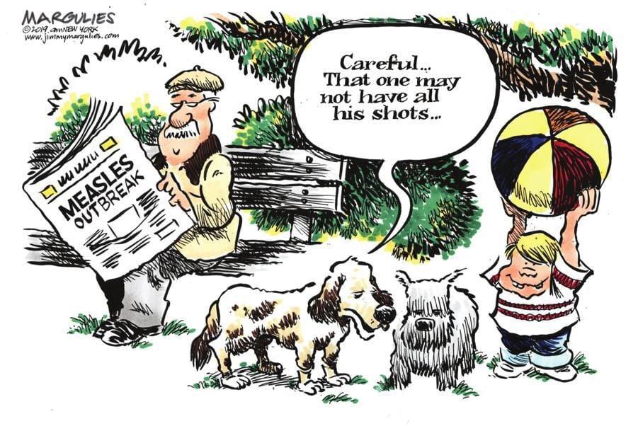 Cartoon: All his shots?