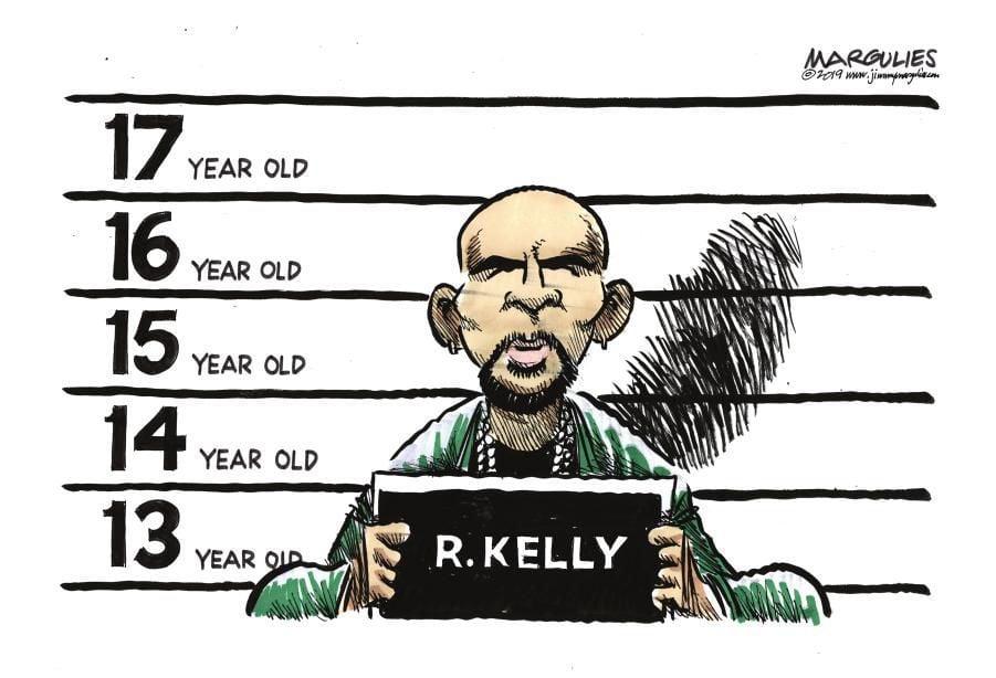 Cartoon: R. Kelly's mugshot