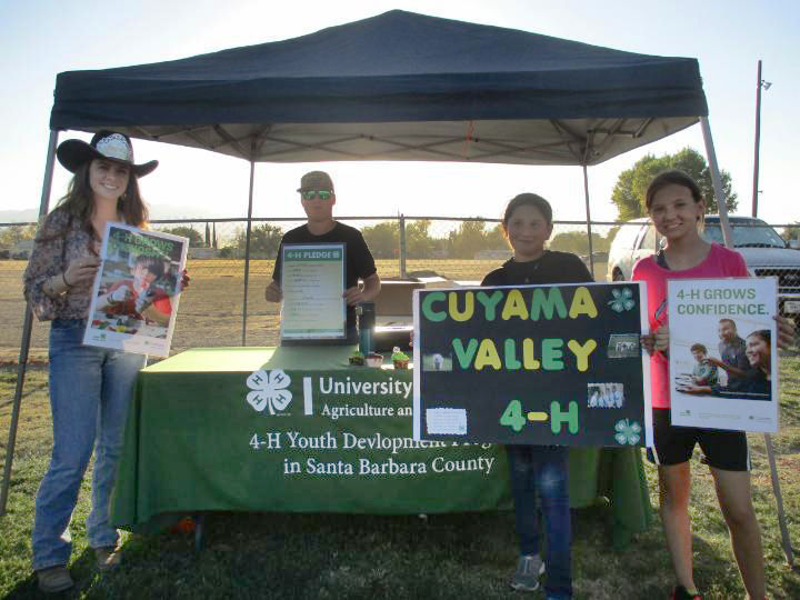 Cuyama Valley 4-H members Mikayla, Sutton, Kaylee and Elexa