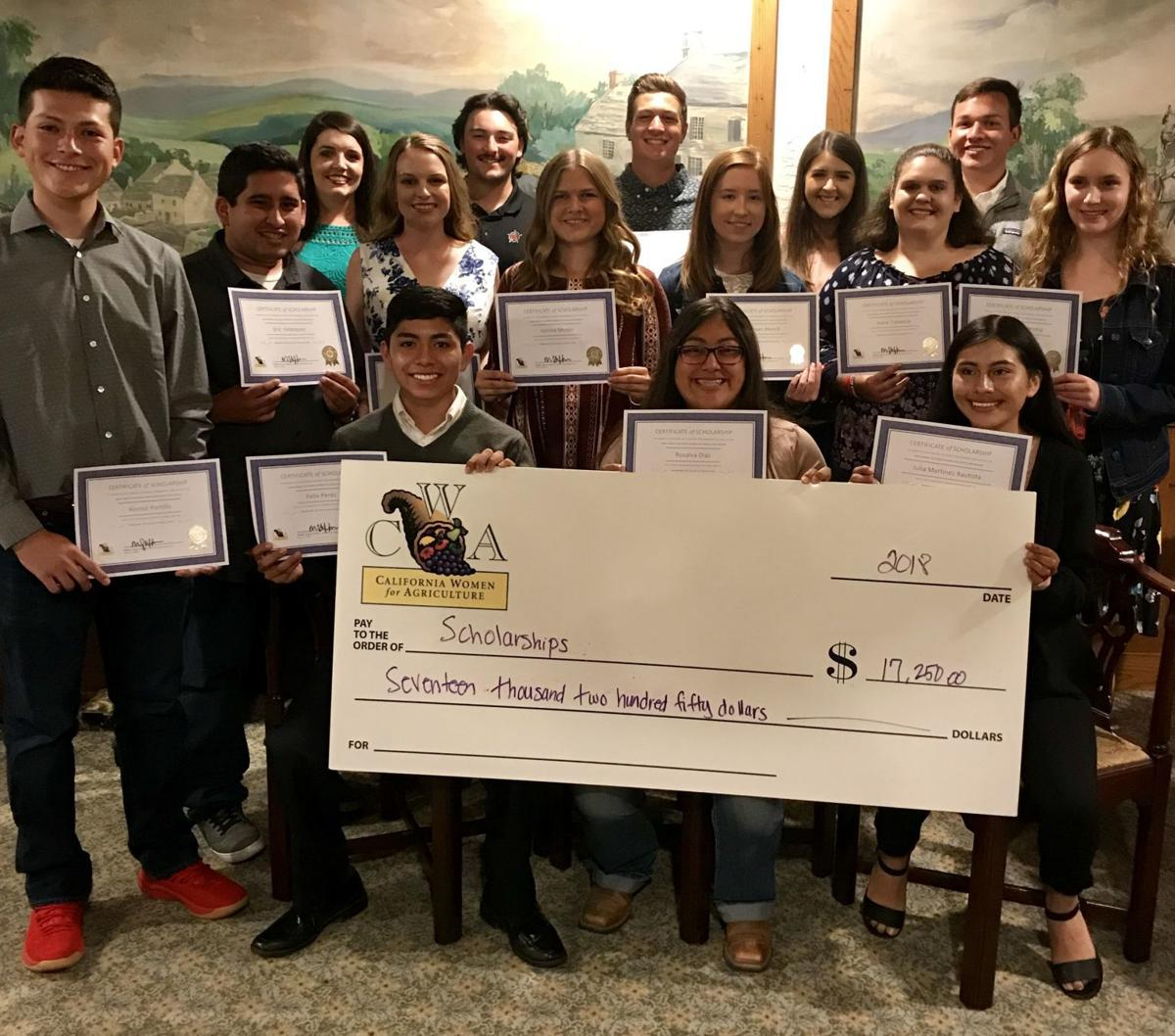 2018 CWA student scholarships