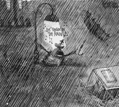 Editorial Cartoon: Climate denial