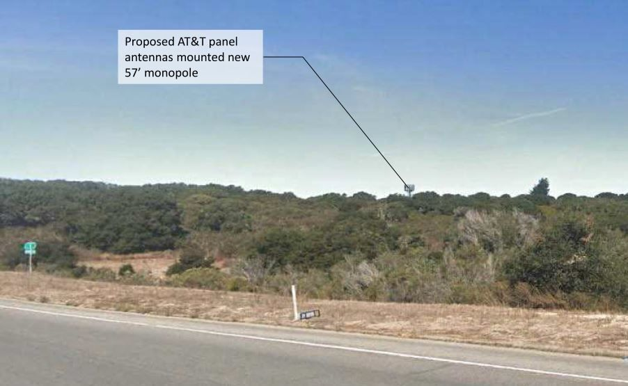 AT&T cell tower simulation, Highway 1