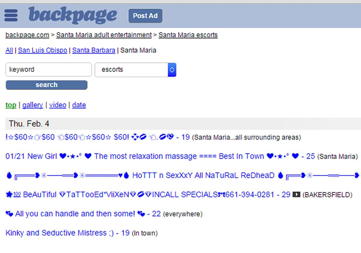SM Prostitution Backpage text