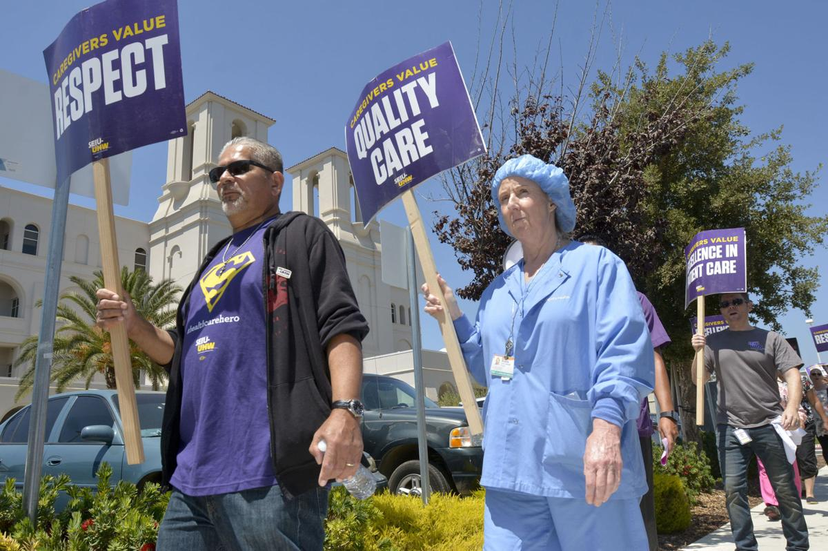 Santa Maria hospital workers protest employment contract ...