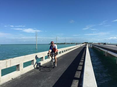 Biking in the Florida Keys is especially fun on stretches where you don't have to worry about riding next to traffic.