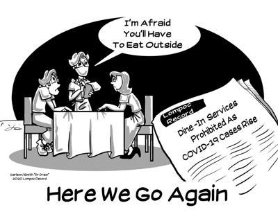 Editorial Cartoon: Eat Outside