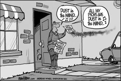 Editorial Cartoon: Dust in the wind