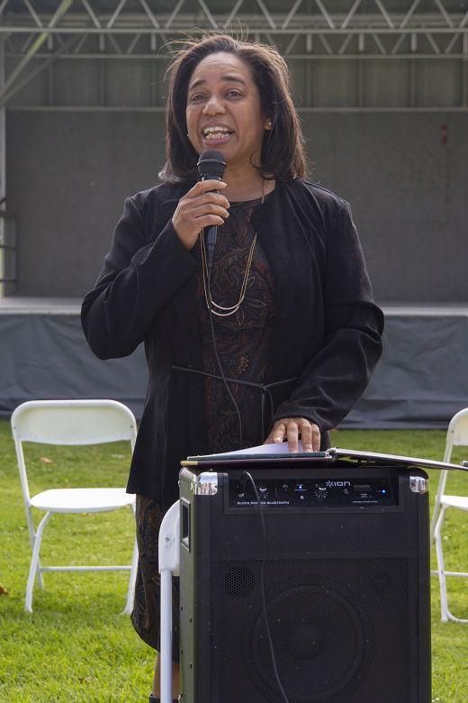 Dr. Denise Isom gave the keynote speech