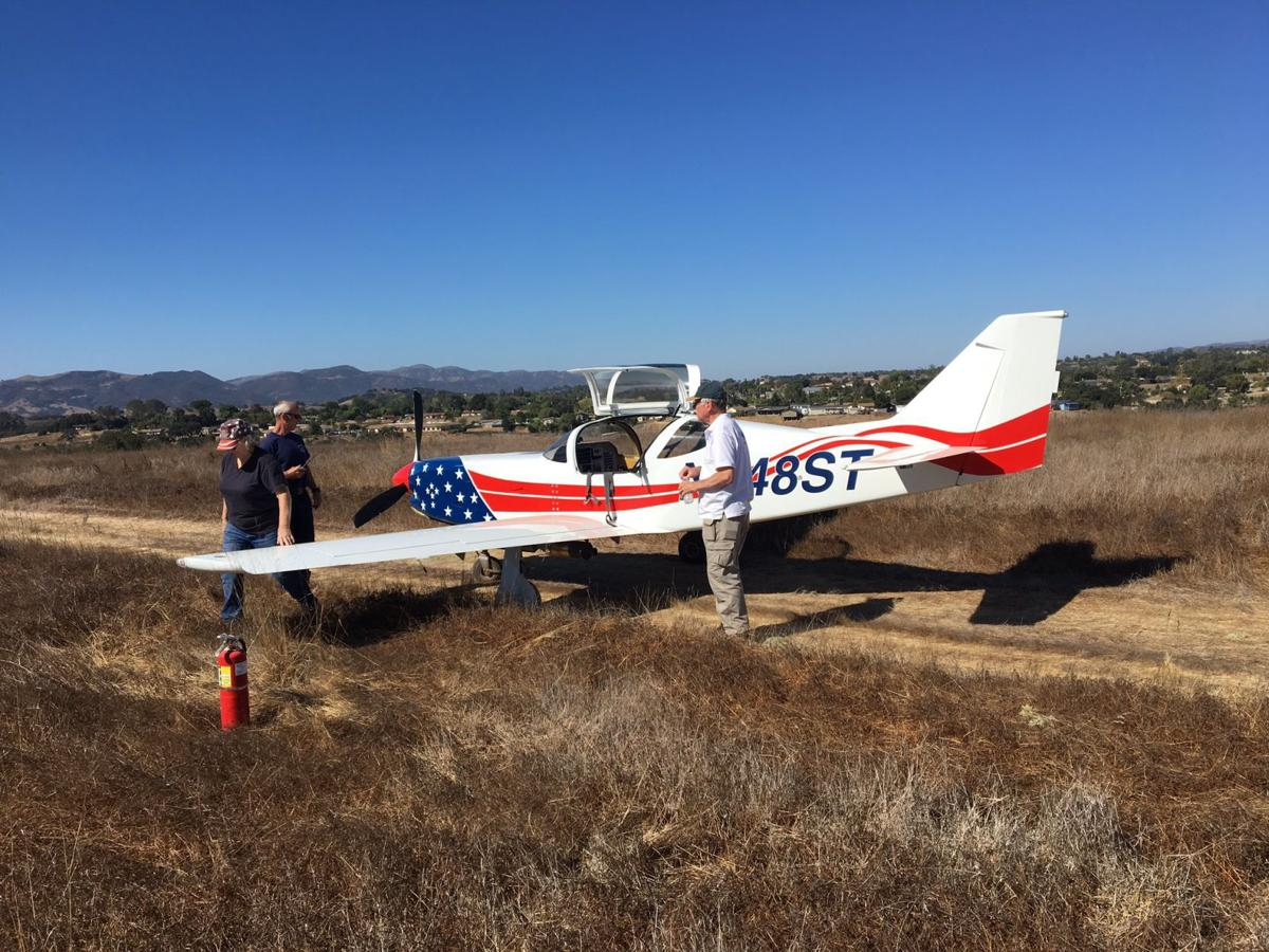 airplane crashes onto field just outside santa ynez airport after