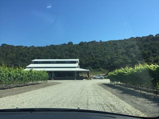The new Peacock Cellars winery/tasting room in rural Arroyo Grande