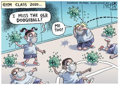 Editorial Cartoon: Dodgeball