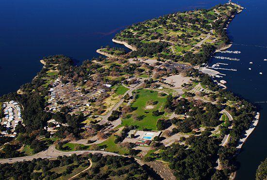 Cachuma Lake Campground aerial view