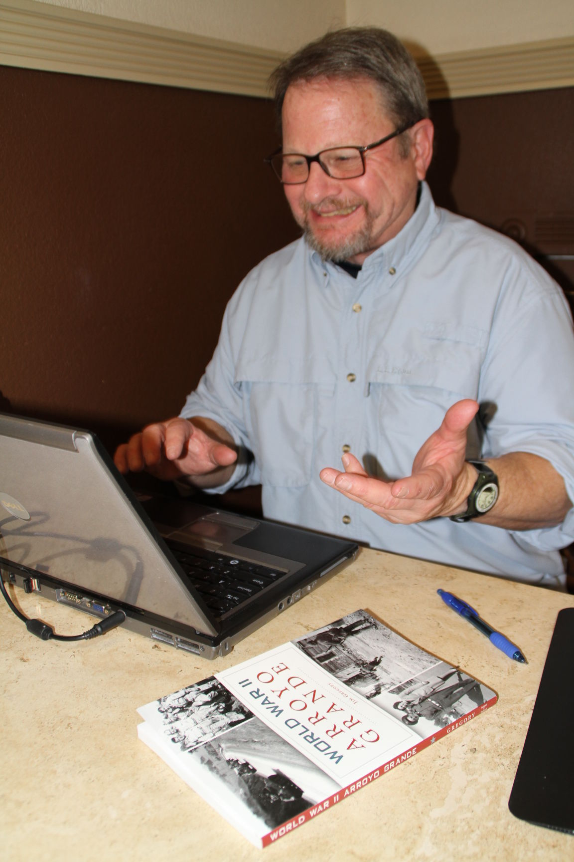 Jim Gregory with book