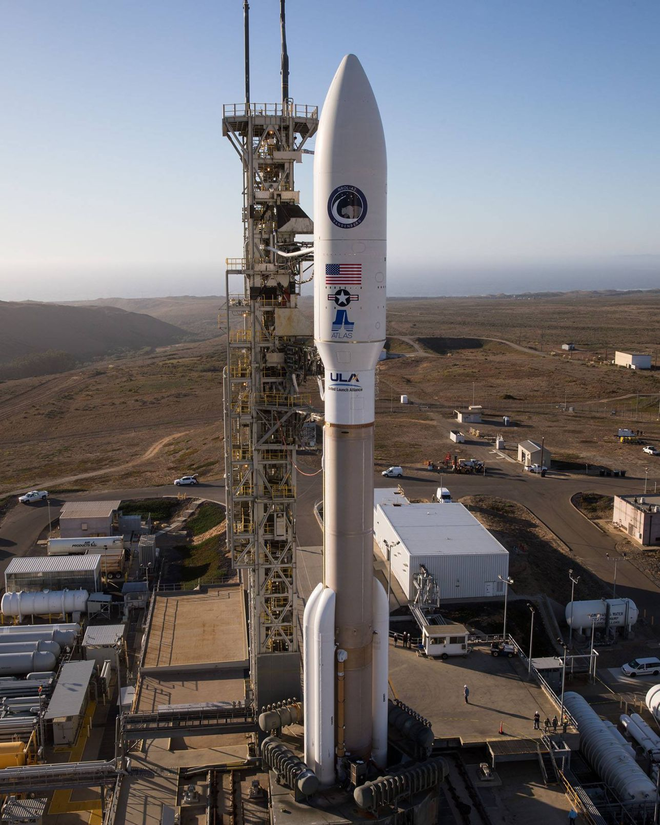 The United States launched a rocket into space with spy satellite