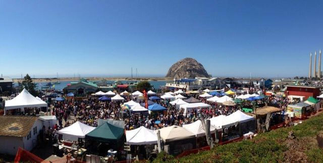 The Avocado Margarita Festival takes place on the Embarcadero, with amazing views of the Morro Bay Rock