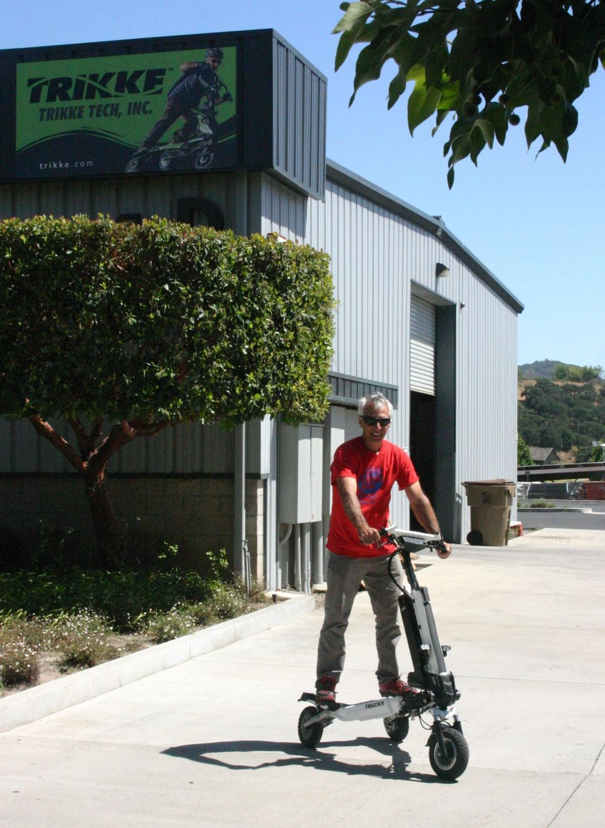 Gildo Beleski at new Trikke Tech location