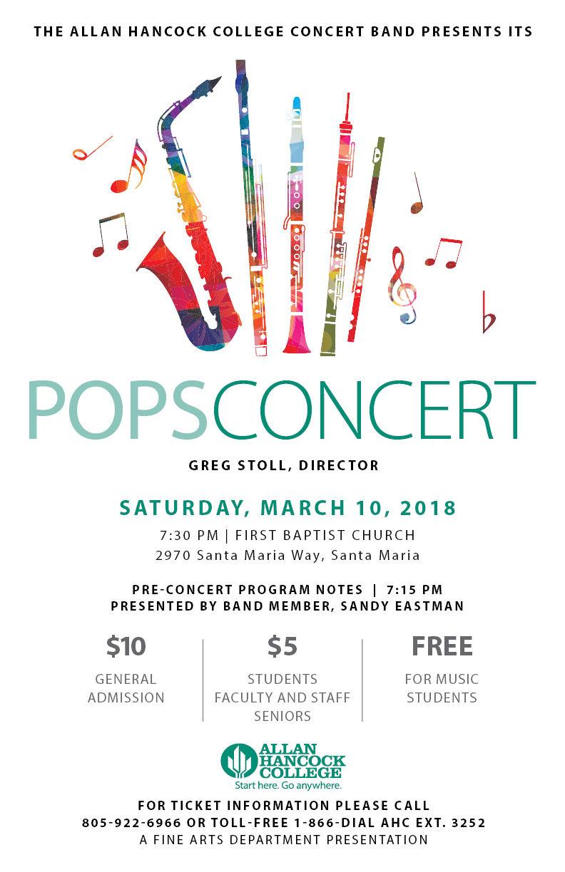 Hancock College POPS Concert