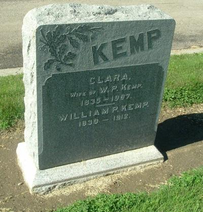 The burial site of William P. Kemp, one of the founders of the Guadalupe Lodge #237 F. & A. M.