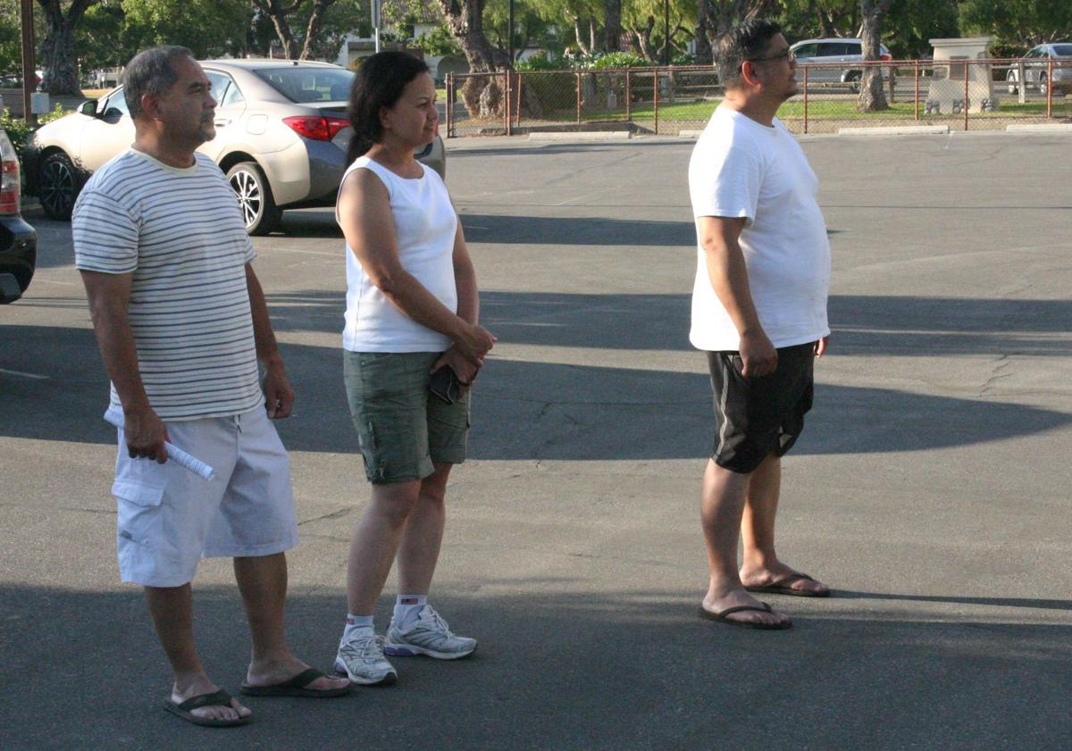 Evacuated campers watch Whittier Fire burn