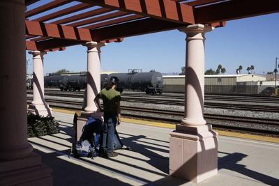 Guadalupe Amtrak Station platform