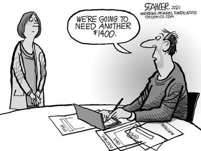 Editorial Cartoon: Federal aid
