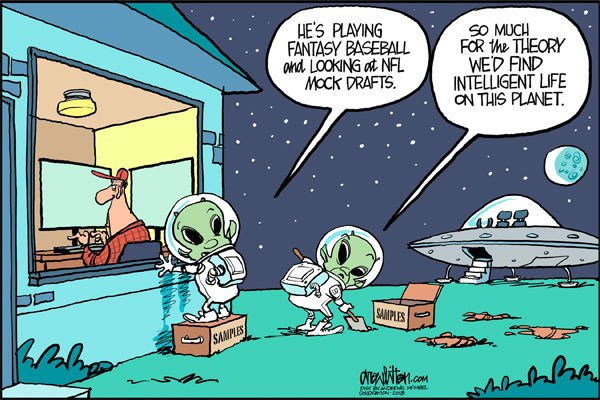 Cartoon: Intelligent life?