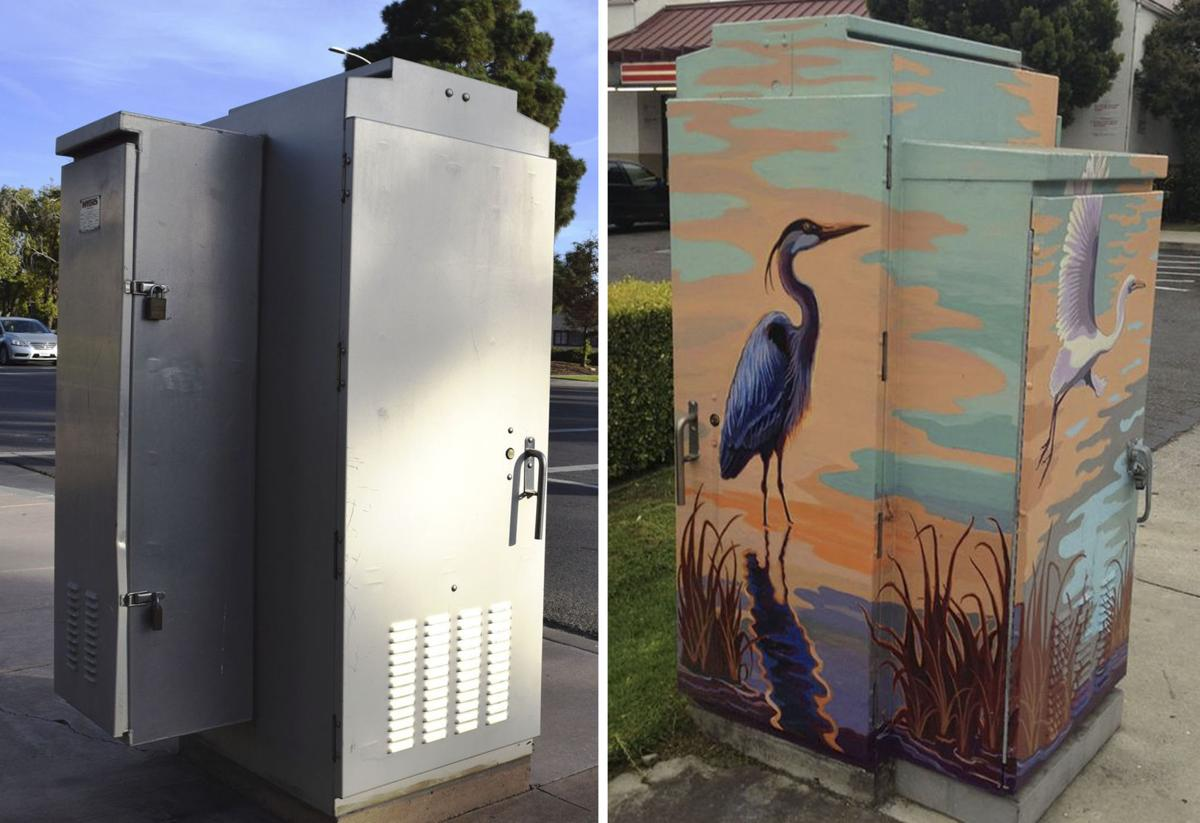 Utility boxes before and after
