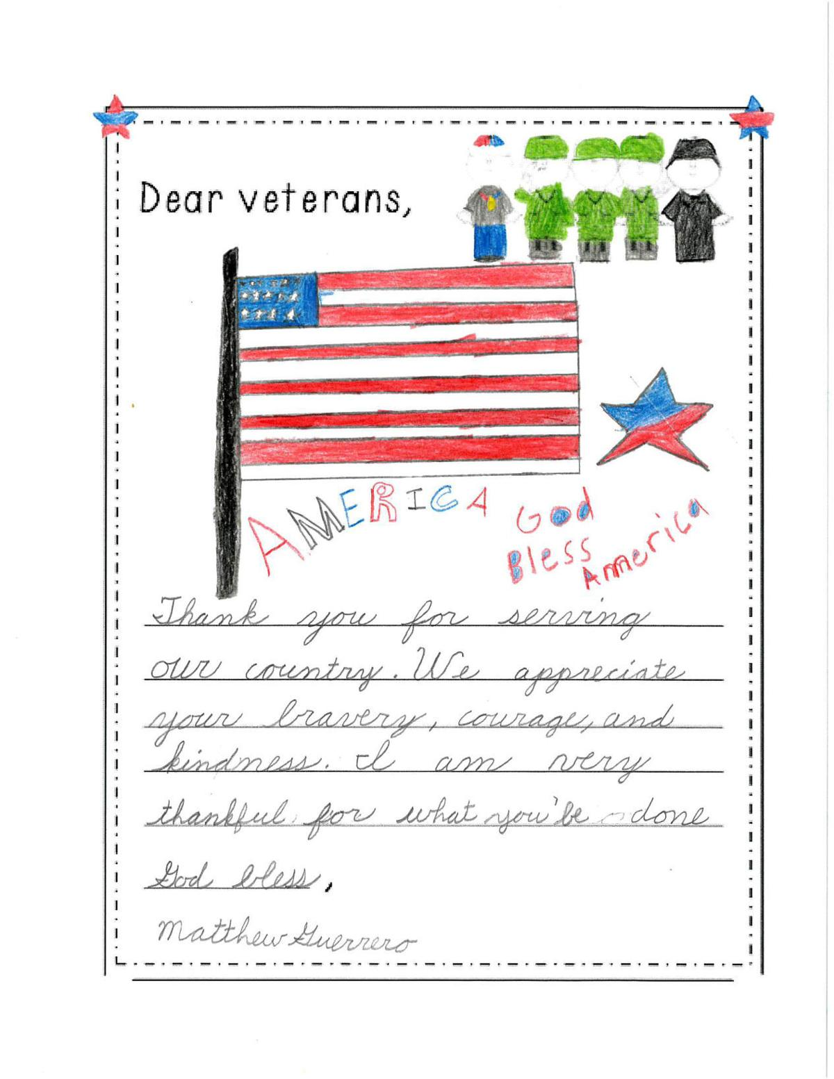 Thank you letters to our veterans from valley christian academy 110917 vca veteran letters 01g thecheapjerseys Choice Image
