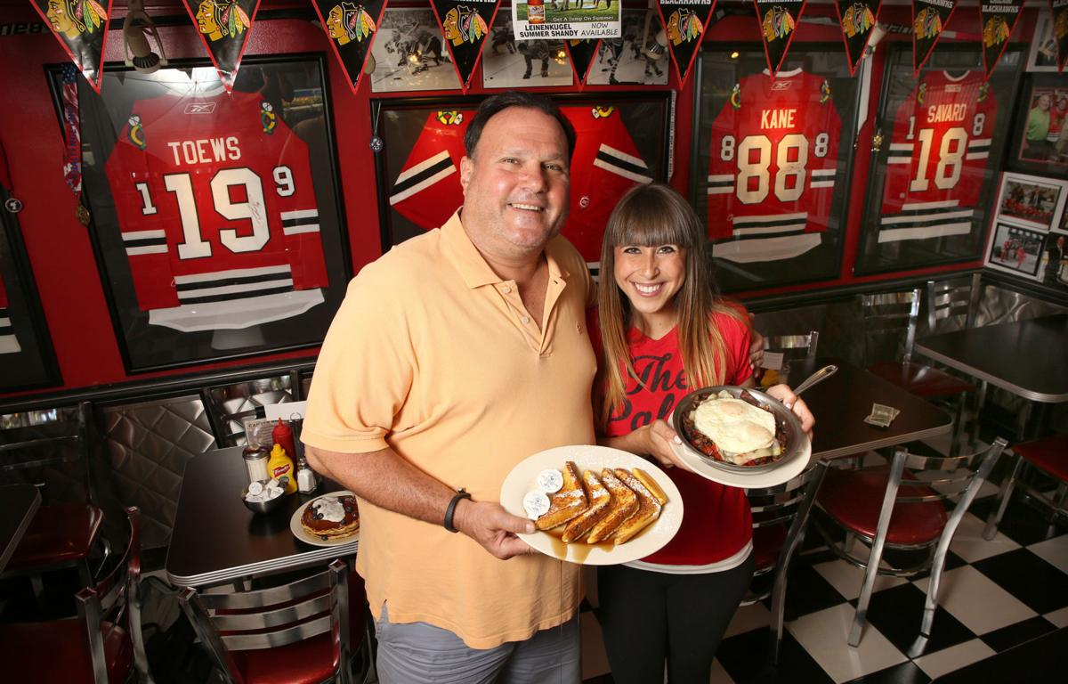 Owner George Lemperis with daughter Christina at the Palace Grill on July 8, 2014.