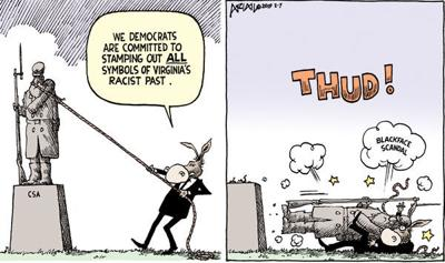 Cartoon: Blackface backfire