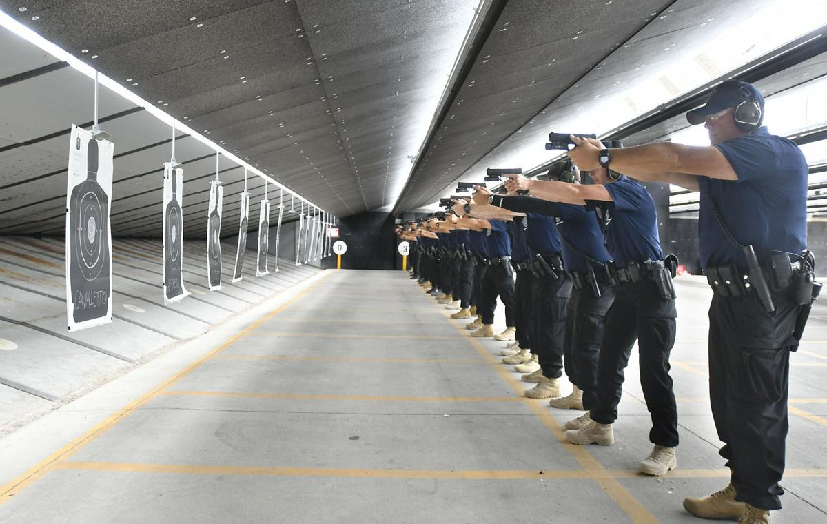 Welcome sound of gunfire returns to Hancock College's Public Safety Training Complex