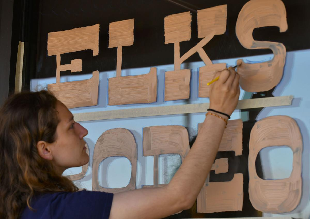 Elks Rodeo Tradition Returns With Window Painting Art