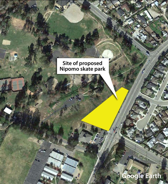 Site of proposed Nipomo skate park