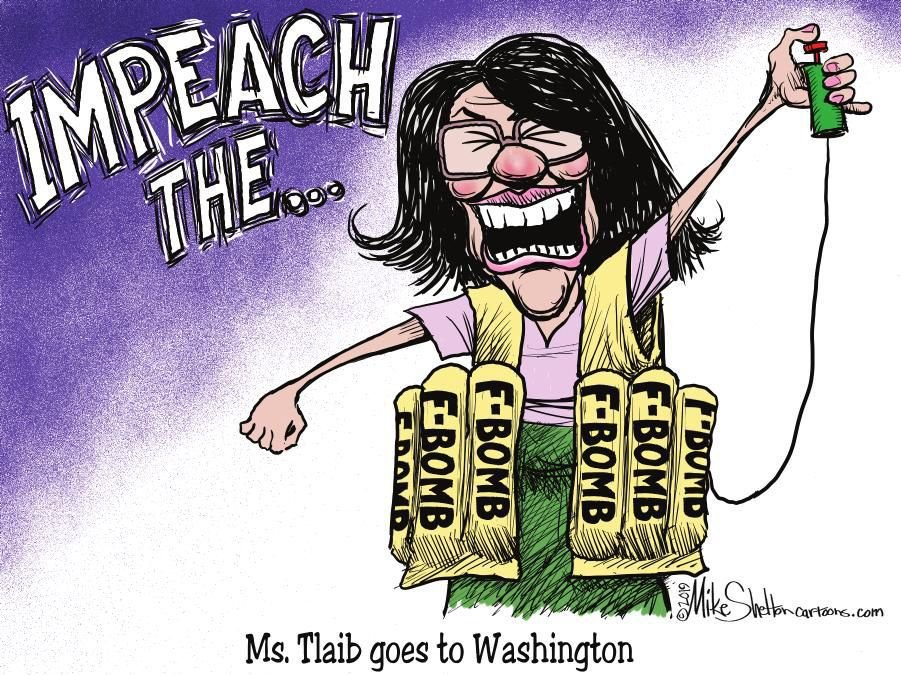 Cartoon: Congresswoman Tlaib