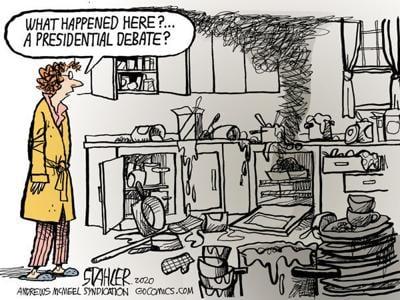 Editorial Cartoon: Debate