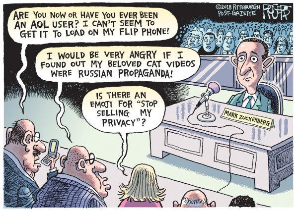 Cartoon: Zuckerberg and Congress