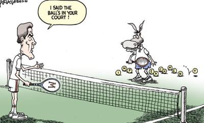 Cartoon: Ball's in your court