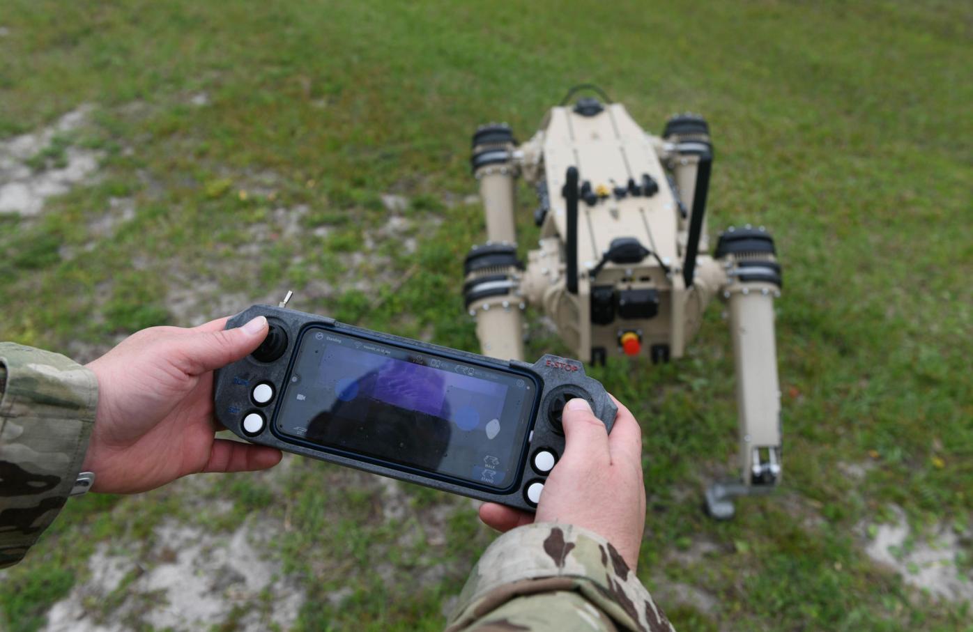 Quad-legged Unmanned Ground Vehicle