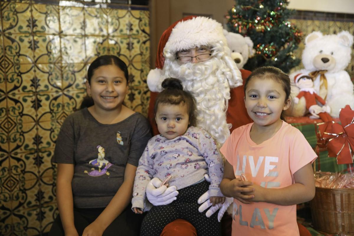 Toys for Tots children with Santa