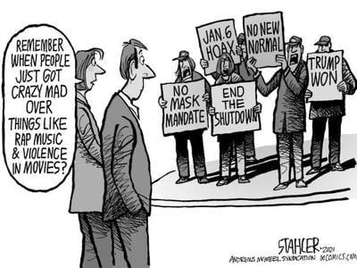 Editorial Cartoon: Crazy mad