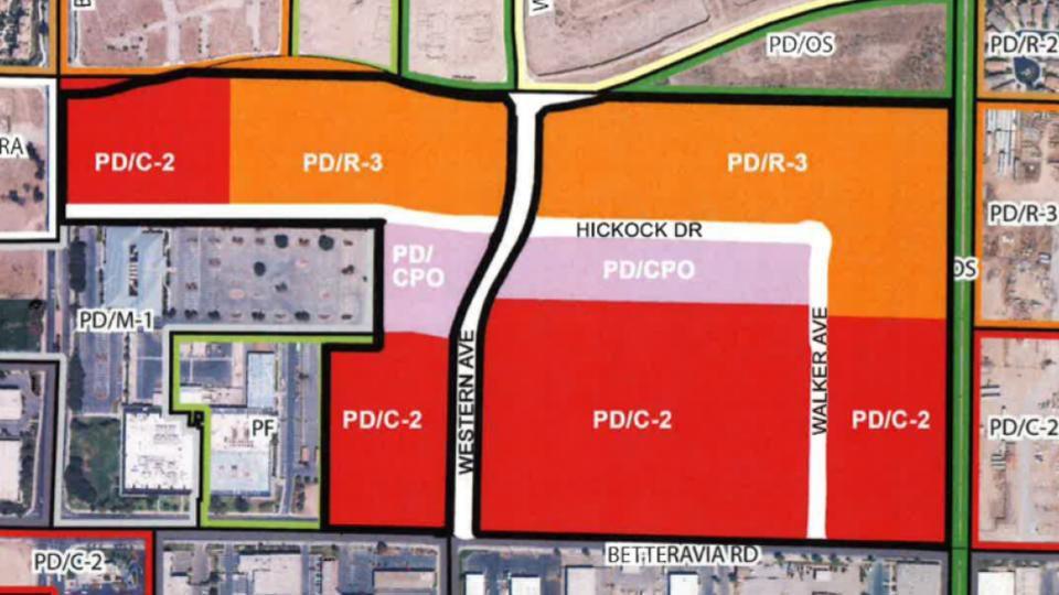 Betteravia Plaza tract map