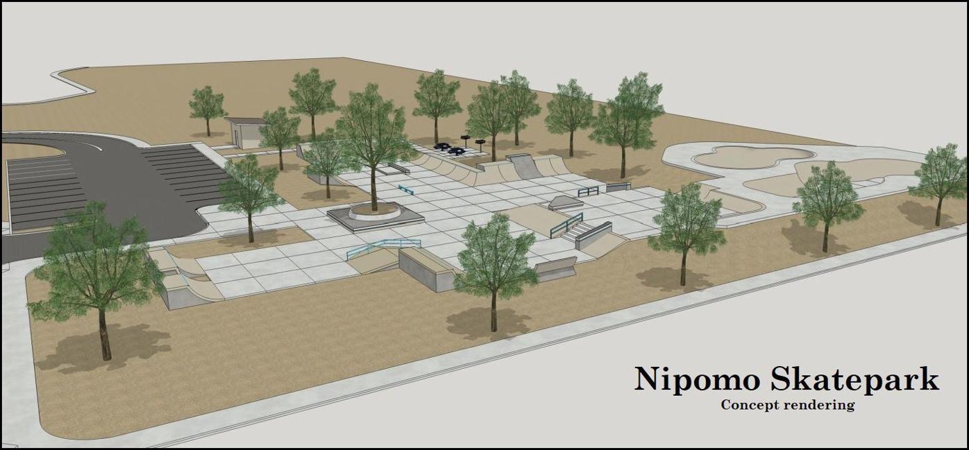 Nipomo Skatepark rendering
