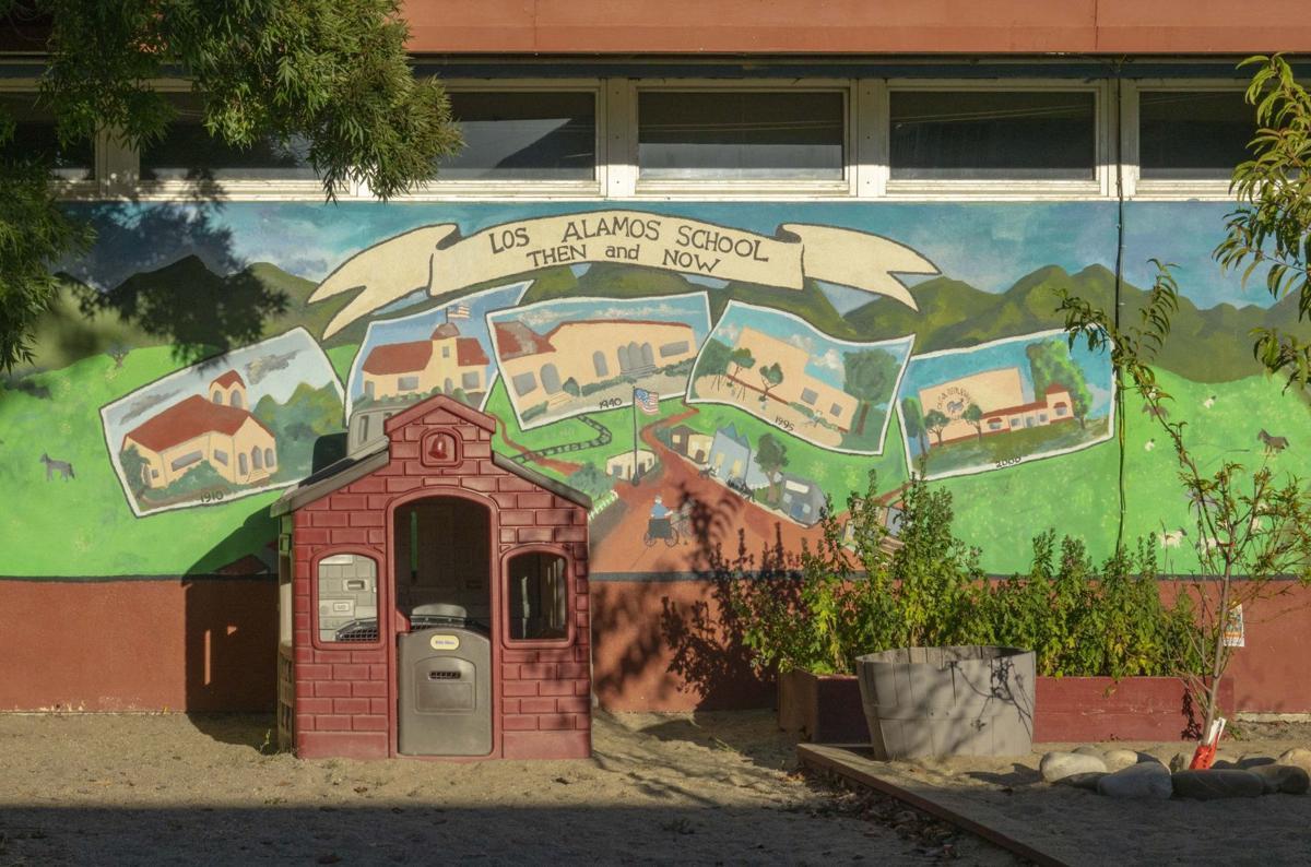 A mural at Olga Reed School
