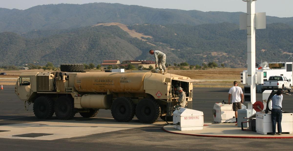 Fuel truck at Santa Ynez Valley Airport helibase