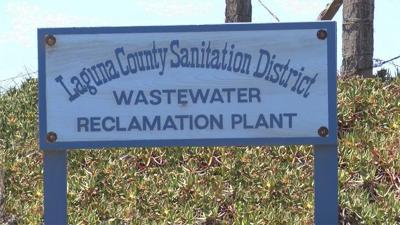 Laguna County Sanitation District Wastewater Reclamation Plant sign