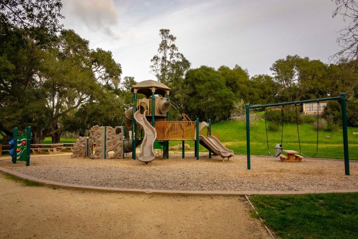 A playground is one of the features of this park