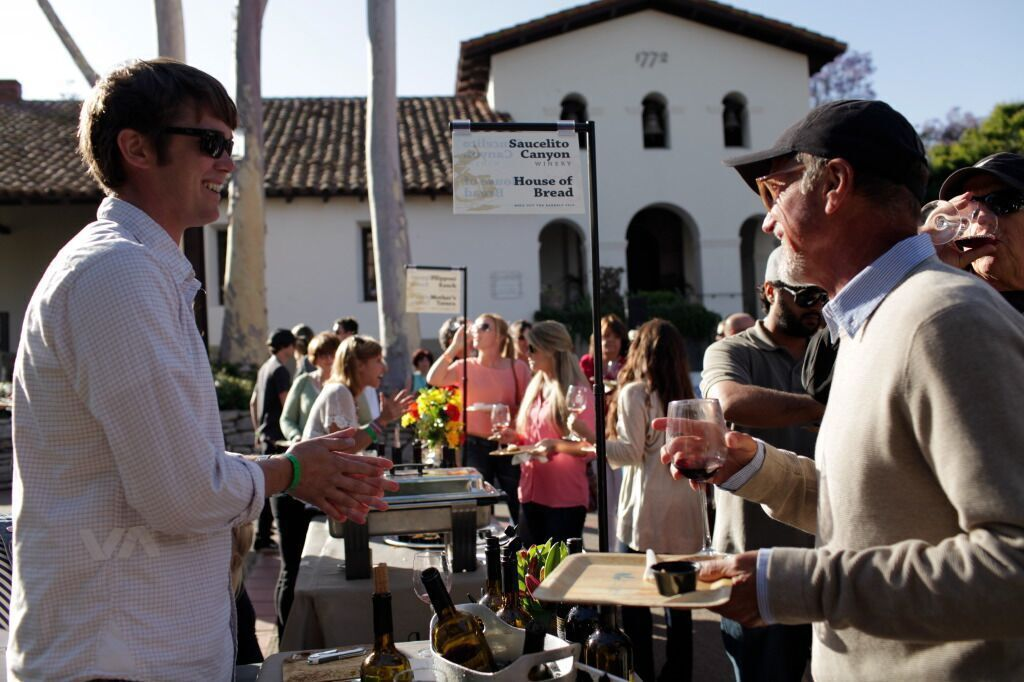 Barrels in the Plaza always features SLO Wine Country winery members, such as Saucelito Canyon Winery, and artisan food producers, like House of Bread