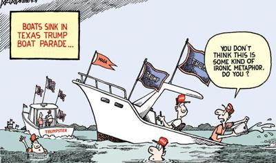 Editorial Cartoon: Boat parade