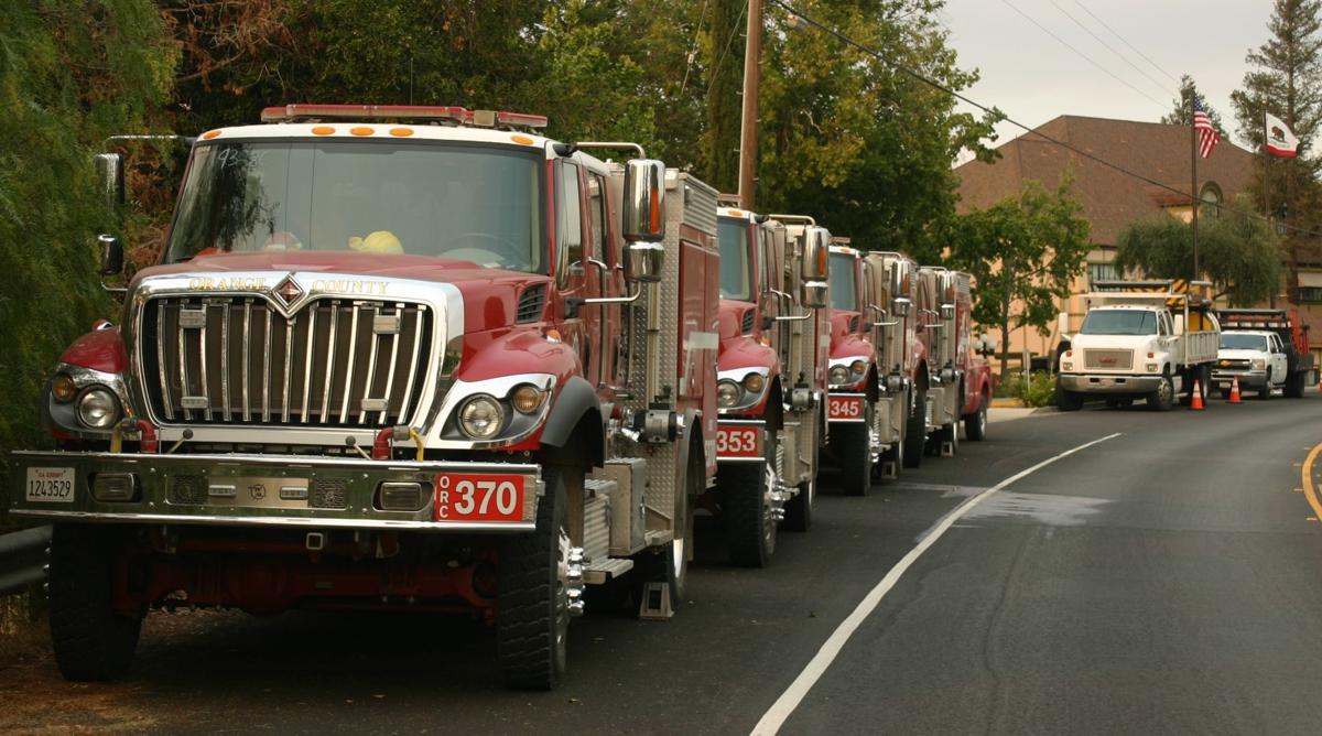 Fire trucks at Solvang's Holiday Inn Express